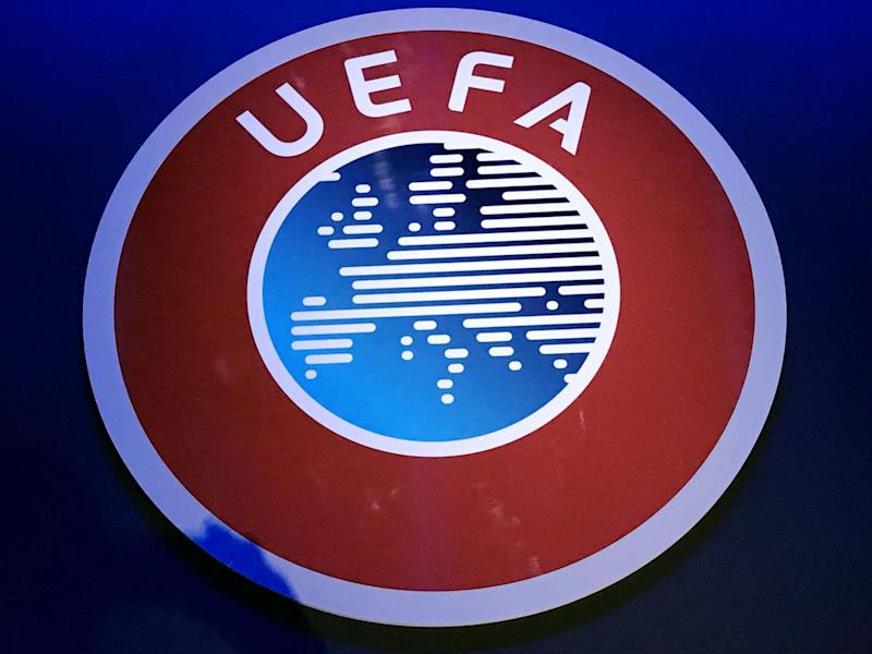 Uefa say they have not received any information from the World Health Organisation calling for a football ban until 2022: PA