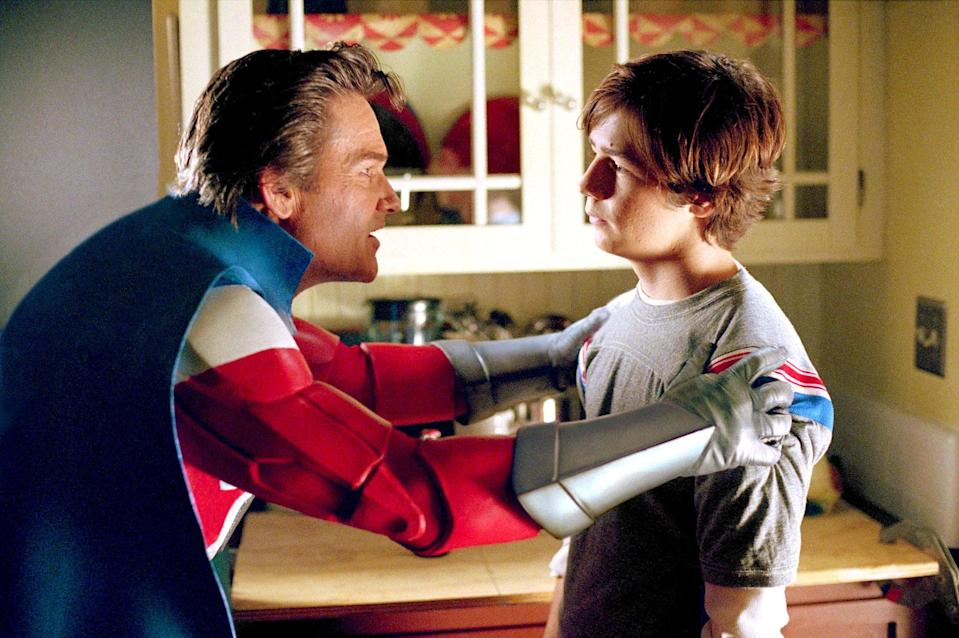 """<p><strong>HBO Max's Description:</strong> """"When you are the son of two of the world's greatest superheroes, expectations can be pretty lofty. That's the case for Will Stronghold, who seems rather average despite his super-parents. Sent to a school for those with special powers, Will deals with some of the more common issues of high-school life-girls, bullies and high expectations-while trying to find his own identity.""""</p> <p><a href=""""https://play.hbomax.com/feature/urn:hbo:feature:GXXAwigiwjBySmAEAAAhu"""" class=""""link rapid-noclick-resp"""" rel=""""nofollow noopener"""" target=""""_blank"""" data-ylk=""""slk:Watch Sky High on HBO Max here!"""">Watch <strong>Sky High</strong> on HBO Max here!</a></p>"""