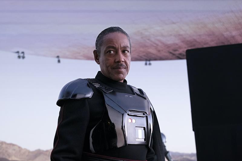 Giancarlo Esposito on the set of THE MANDALORIAN.