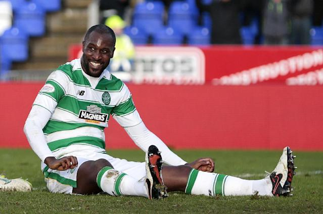 "Football Soccer - Inverness Caledonian Thistle v Celtic - Ladbrokes Scottish Premiership - Tulloch Caledonian Stadium - 29/11/15 Carlton Cole celebrates after scoring the third goal for Celtic Action Images via Reuters / Graham Stuart Livepic EDITORIAL USE ONLY. No use with unauthorized audio, video, data, fixture lists, club/league logos or ""live"" services. Online in-match use limited to 45 images, no video emulation. No use in betting, games or single club/league/player publications. Please contact your account representative for further details."
