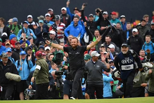 Lowry pulled off a famous win in Northern Ireland (AFP Photo/Paul ELLIS)