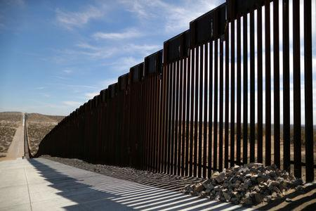 New bollard-style U.S.-Mexico border fencing is seen in Santa Teresa, New Mexico, U.S., March 5, 2019. REUTERS/Lucy Nicholson/Files