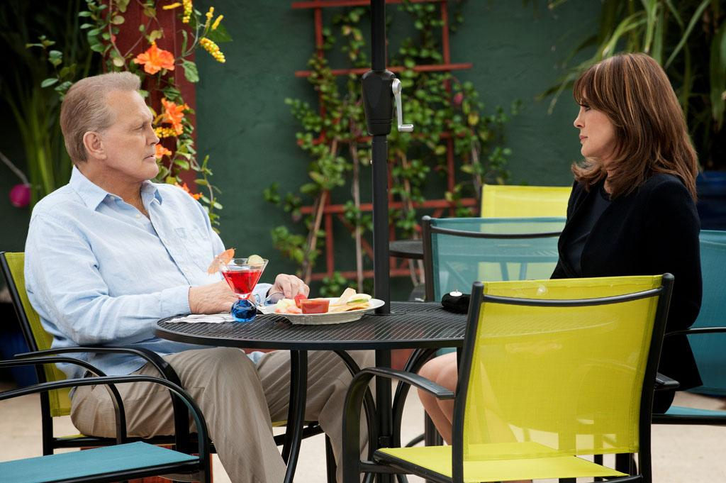 """Lee Majors and Linda Gray in the """"Dallas"""" Season 2 episode, """"Guilt by Association."""""""