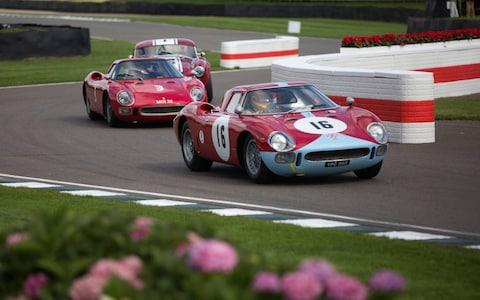 PHOTO:JEFF GILBERT Goodwwod Revival 2017, Chichester, Hampshire, UK 09.09.2017 Picture shows Ferraris battle it out for the Goodwood Trophy. Commission May0078732 Assigned. DT Motoring - Credit: Jeff Gilbert