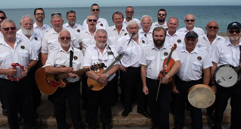The Sheringham Shantymen, a group of singers from North Norfolk