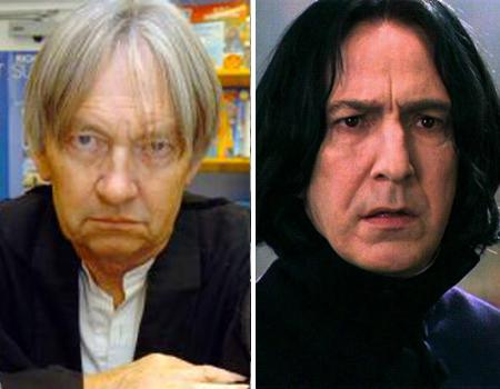"Ah, Snape. You either loved him or hated him (until the end, when of course, you loved him, out of sympathy if nothing else). Did you know that the cold, greasy-haired potions teacher-turned-headmaster was actually inspired by JK Rowling's old chemistry teacher, John Nettleship? Nettleship was unaware that he motivated such a character until his wife and students eventually figured it out. To make things slightly suspicious, Rowling's mother actually worked with the chemistry teacher in the same school so we wonder if anything happened between them, Lily/Snape style! Nettleship described himself as ""a short-tempered chemistry teacher with long hair... [and a] gloomy, malodorous laboratory"" but claimed: ""I was horrified when I first found out [I was the inspiration]. I knew I was a strict teacher but I didn't think I was that bad."""