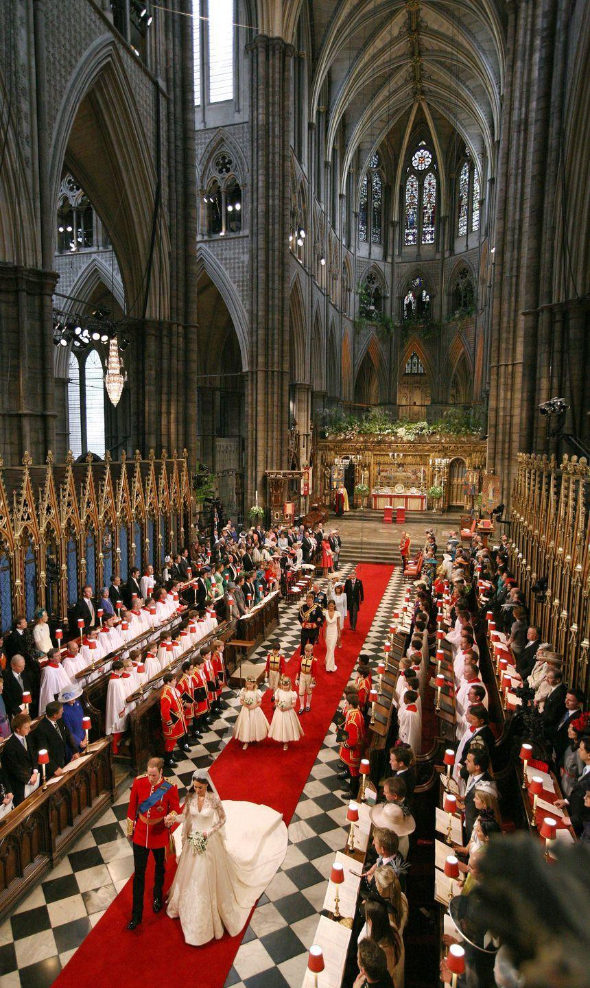 """<p>The London church traditionally hosts royal weddings, coronations, and other major events. It's only a five-minute drive from <a href=""""https://www.goodhousekeeping.com/life/entertainment/a33742/12-facts-about-buckingham-palace/"""" rel=""""nofollow noopener"""" target=""""_blank"""" data-ylk=""""slk:Buckingham Palace"""" class=""""link rapid-noclick-resp"""">Buckingham Palace</a>, where the couple kissed (twice!) in front of thousands of well-wishers below the iconic balcony. </p>"""