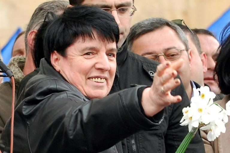 Nona Gaprindashvili, pictured in 2009, is the first woman to be awarded the title of grandmaster (AFP/VANO SHLAMOV)