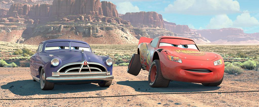 "Doc Hudson (voiced by <a href=""http://movies.yahoo.com/movie/contributor/1800012316"">Paul Newman</a>) and Lightning McQueen (voiced by <a href=""http://movies.yahoo.com/movie/contributor/1800019255"">Owen Wilson</a>) in Disney's presentation of Pixar's <a href=""http://movies.yahoo.com/movie/1808626781/info"">Cars</a> - 2006"