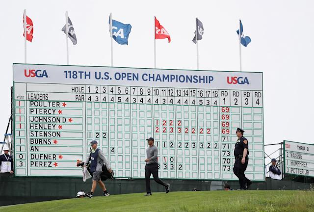 Fox issued an apology on Friday after a microphone at the U.S. Open picked up two fans discussing a sexual encounter in very explicit terms and aired it during the live broadcast. (Getty Images)