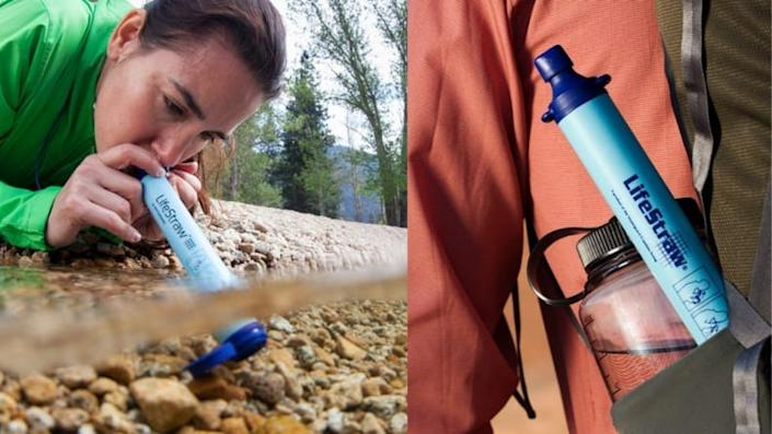 Forget your water bottle? No worries—bring a filter with you.