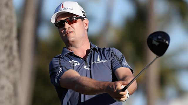 Zach Johnson seemed headed for a missed cut during the opening round of the Valero Texas Open, but now the two-time champ shares the lead.