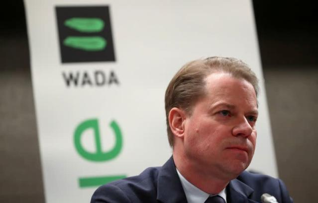 News conference of World Anti-Doping Agency in Lausanne