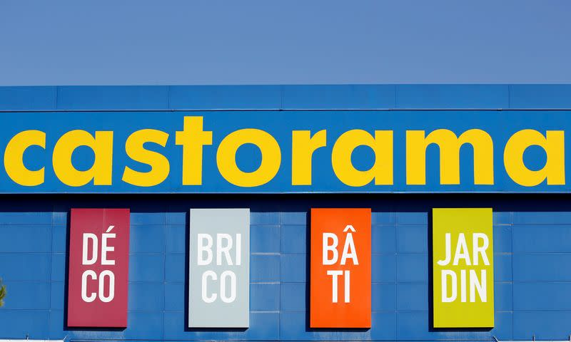 Logo of Castorama, a home improvement store, operated by Kingfisher is pictured in Merignac near Bordeaux