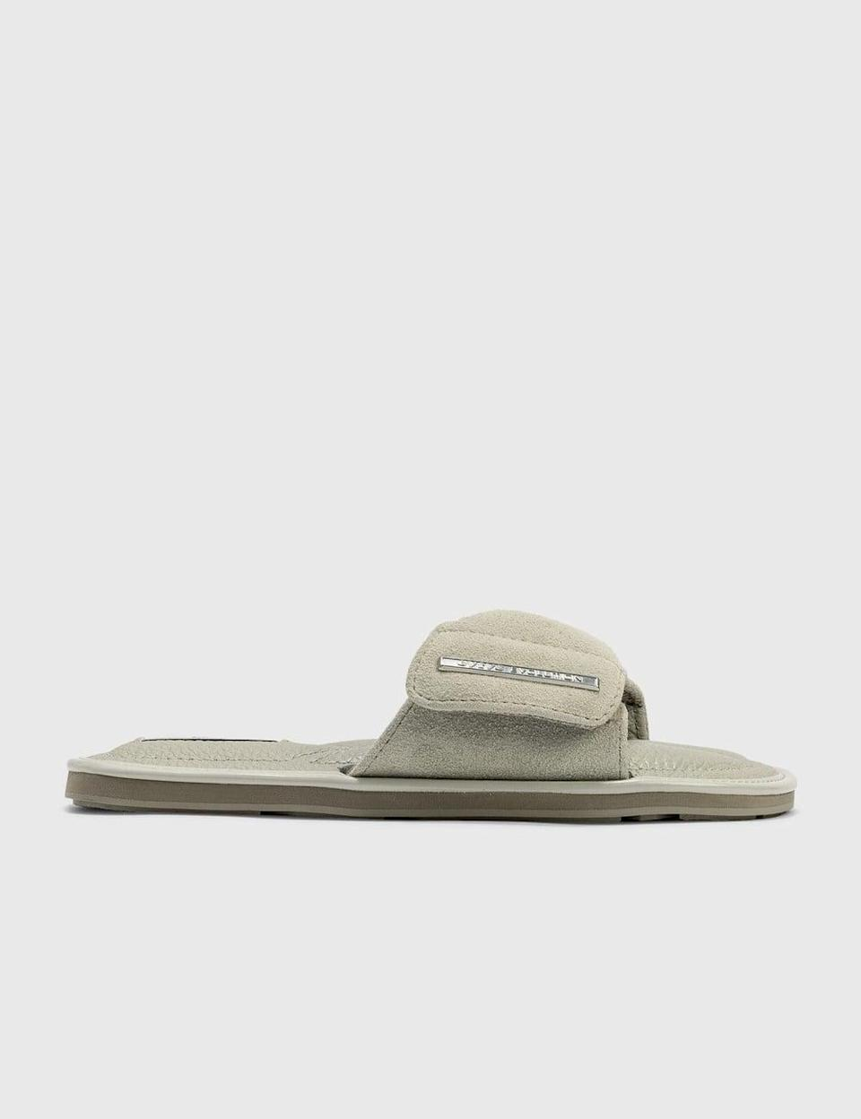 "<p>These <span>Eytys Belaggio Dust Sandals</span> ($165) are the ideal companion to <a href=""https://www.popsugar.com/fashion/bike-short-outfit-ideas-48265536"" class=""link rapid-noclick-resp"" rel=""nofollow noopener"" target=""_blank"" data-ylk=""slk:biker shorts"">biker shorts</a>.</p>"