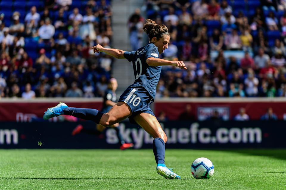 Despite featuring talents like Carli Lloyd (pictured), Sky Blue FC doesn't have the investment of other clubs in the NWSL. (Getty)