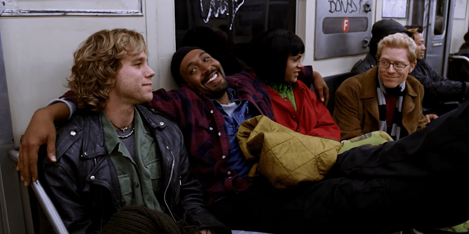 """<div class=""""paragraphs""""><p>A still from the movie <em>Rent </em>(2005) adapted from 1996 Broadway musical</p></div>"""