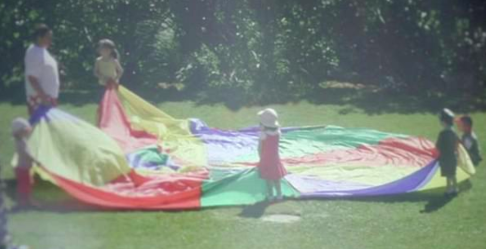 An image from the new Netflix documentary appearing to show Madeleine playing at the resort. Source: Netflix