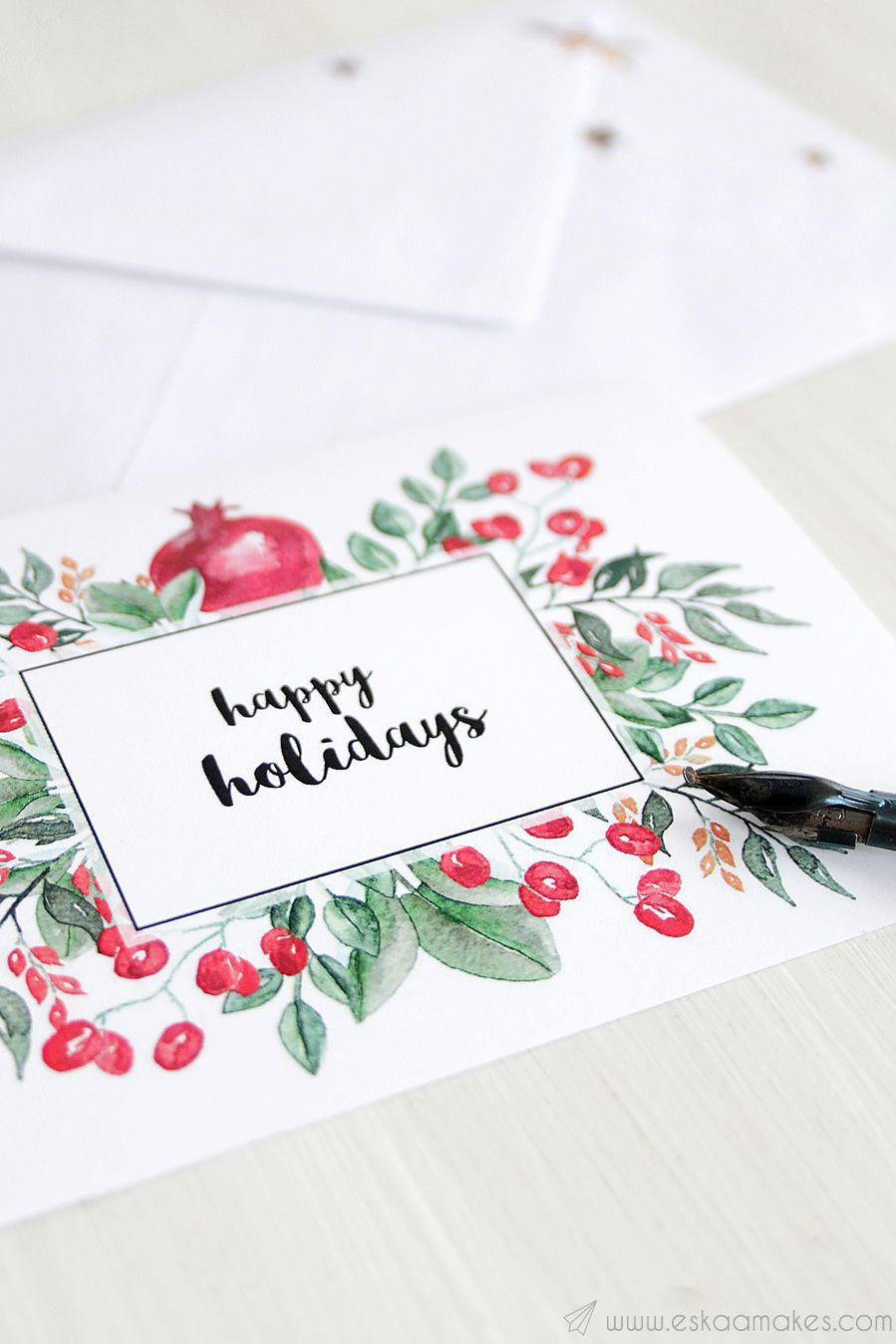 """<p>Save money—and time!—by using this blogger's free printable to make your very own set of elegant Yuletide cards. </p><p><strong>Get the tutorial at <a href=""""https://www.eskaamakes.com/free-printable-christmas-cards/"""" rel=""""nofollow noopener"""" target=""""_blank"""" data-ylk=""""slk:Eskaa Makes"""" class=""""link rapid-noclick-resp"""">Eskaa Makes</a>.</strong></p><p><strong><a class=""""link rapid-noclick-resp"""" href=""""https://www.amazon.com/LIVINGO-Multi-Purpose-Stainless-Dressmaking-Professional/dp/B079L16LN6/?tag=syn-yahoo-20&ascsubtag=%5Bartid%7C10050.g.3872%5Bsrc%7Cyahoo-us"""" rel=""""nofollow noopener"""" target=""""_blank"""" data-ylk=""""slk:SHOP ENVELOPES"""">SHOP ENVELOPES</a><br></strong></p>"""