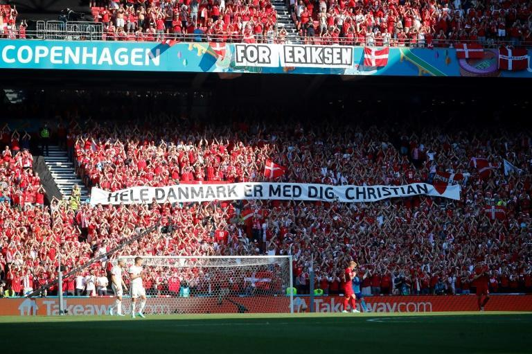 There has been an outpouring of support in Denmark for Christian Eriksen