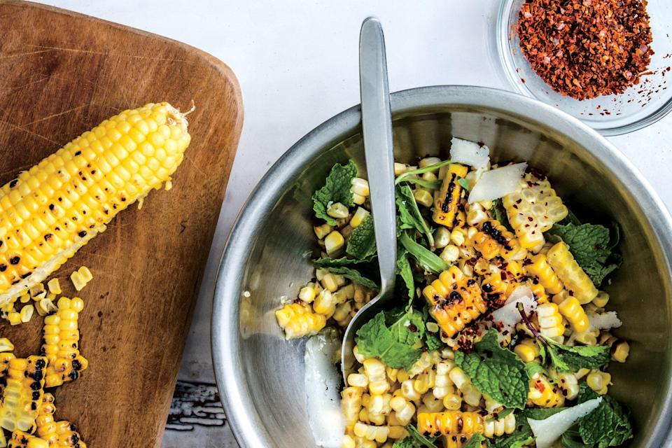 "Corn salads in the summer are <a href=""https://www.epicurious.com/recipes/food/views/charred-corn-salad-with-basil-and-tomatoes-51104300?mbid=synd_yahoo_rss"" rel=""nofollow noopener"" target=""_blank"" data-ylk=""slk:a"" class=""link rapid-noclick-resp"">a</a> <a href=""https://www.epicurious.com/recipes/food/views/grilled-corn-salad-with-hot-honey-lime-dressing?mbid=synd_yahoo_rss"" rel=""nofollow noopener"" target=""_blank"" data-ylk=""slk:dime"" class=""link rapid-noclick-resp"">dime</a> <a href=""https://www.epicurious.com/recipes/food/views/herby-corn-salad-51242030?mbid=synd_yahoo_rss"" rel=""nofollow noopener"" target=""_blank"" data-ylk=""slk:a"" class=""link rapid-noclick-resp"">a</a> <a href=""https://www.epicurious.com/recipes/food/views/charred-and-raw-corn-with-chile-and-cheese-51239700?mbid=synd_yahoo_rss"" rel=""nofollow noopener"" target=""_blank"" data-ylk=""slk:dozen"" class=""link rapid-noclick-resp"">dozen</a>, but are they typically as complexly flavored as one with golden toasted hazelnuts, salty and earthy Pecorino, and peppery mint and tarragon? <a href=""https://www.epicurious.com/recipes/food/views/corn-salad-with-hazelnuts-pecorino-and-mint?mbid=synd_yahoo_rss"" rel=""nofollow noopener"" target=""_blank"" data-ylk=""slk:See recipe."" class=""link rapid-noclick-resp"">See recipe.</a>"