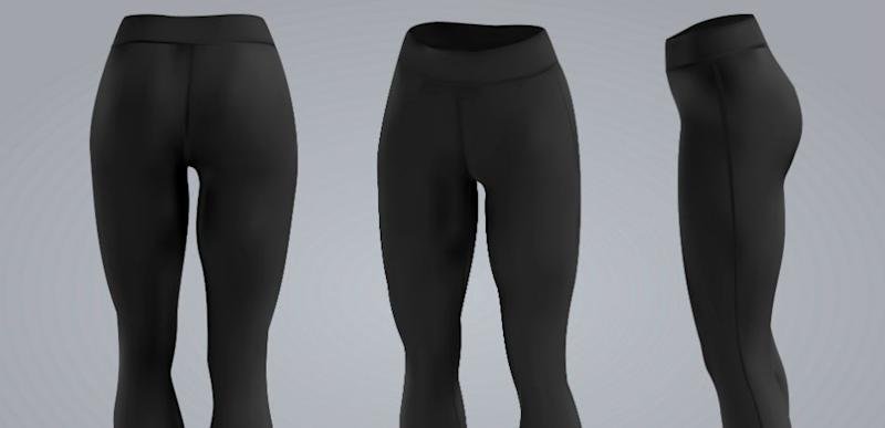 2cbe4ec4663231 Women's black leggings mockup in front and back view on isolated background