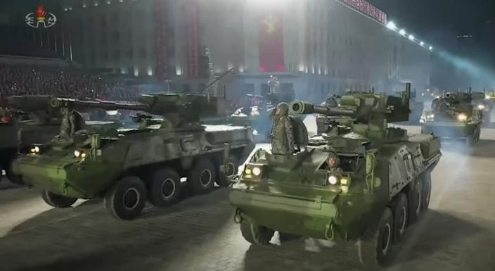 North Korea armored combat vehicle howitzer