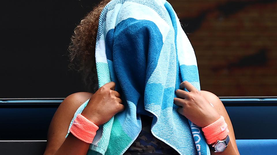 Naomi Osaka, pictured here after her extraordinary victory at the Australian Open.