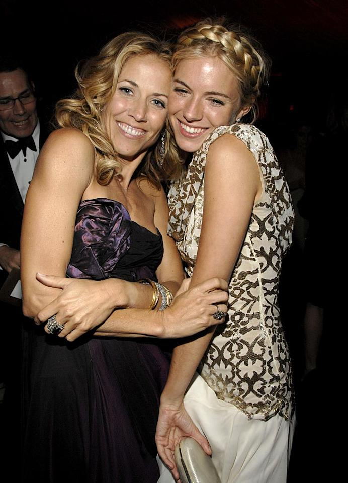 """<a href=""""/sheryl-crow/contributor/36693"""">Sheryl Crow</a> and <a href=""""/sienna-miller/contributor/1130762"""">Sienna Miller</a> at the In Style and Warner Bros. 2007 Golden Globe After Party."""
