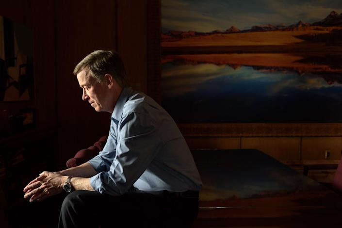 Colorado Governor John Hickenlooper in the Colorado State Capitol on April 4, 2017. (Photo: Carl Bower for Yahoo News)