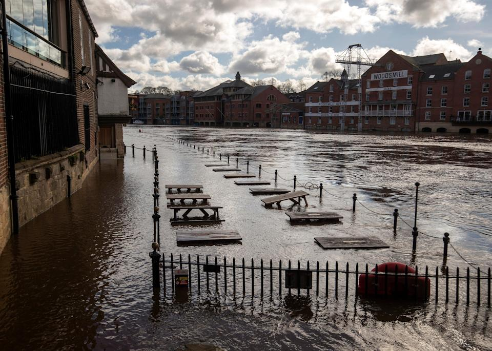 Flooding in York (Danny Lawson/PA) (PA Archive)