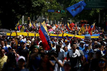 Venezuela opposition again takes to streets, pushing for earlier election