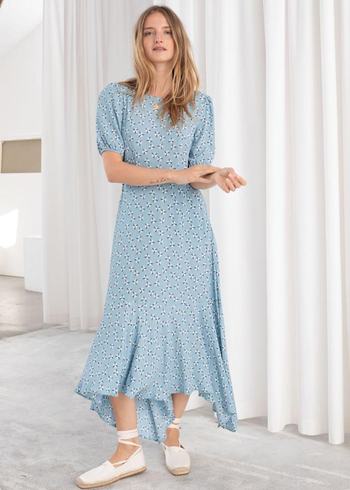 "<p>Cotton blend handkerchief midi dress, £85, & Other Stories</p><p><a class=""body-btn-link"" href=""https://go.redirectingat.com?id=127X1599956&url=https%3A%2F%2Fwww.stories.com%2Fen_gbp%2Fclothing%2Fdresses%2Fmidi-dresses%2Fproduct.cotton-blend-handkerchief-midi-dress-dandelion.0710173003.html&sref=http%3A%2F%2Fwww.cosmopolitan.com%2Fuk%2Ffashion%2Fstyle%2Fg4044%2Fwedding-guest-dresses-to-wear-to-a-summer-wedding-cheap%2F"" target=""_blank"">Buy now</a></p>"