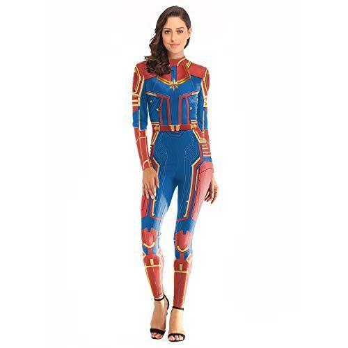 "<p><strong>X-COSTUME</strong></p><p>amazon.com</p><p><strong>15.99</strong></p><p><a href=""http://www.amazon.com/dp/B07QBFCYQC/?tag=syn-yahoo-20&ascsubtag=%5Bartid%7C10050.g.21345654%5Bsrc%7Cyahoo-us"" rel=""nofollow noopener"" target=""_blank"" data-ylk=""slk:Shop Now"" class=""link rapid-noclick-resp"">Shop Now</a></p><p>Last year, Captain Marvel became the very first female superhero to lead her own movie in the Marvel Cinematic Universe, and you can channel her badass energy in a pinch with this all-in-one costume.</p>"