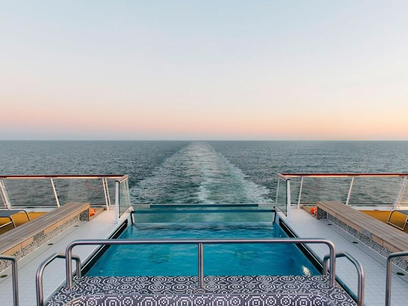 The infinity pool on board the Viking Jupiter, where the Nordic spa is included in your fare. | Amanda Hollinger/Viking