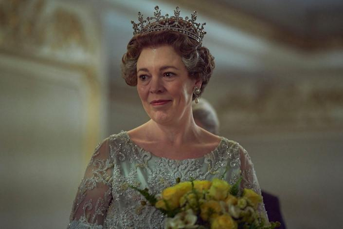 """Olivia Colman as Queen Elizabeth II in Netflix's drama about the British royal family, """"The Crown."""""""