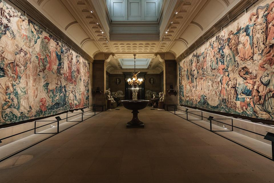 The Devonshire Hunting Tapestries in their rightful home (Chatsworth House Trust)