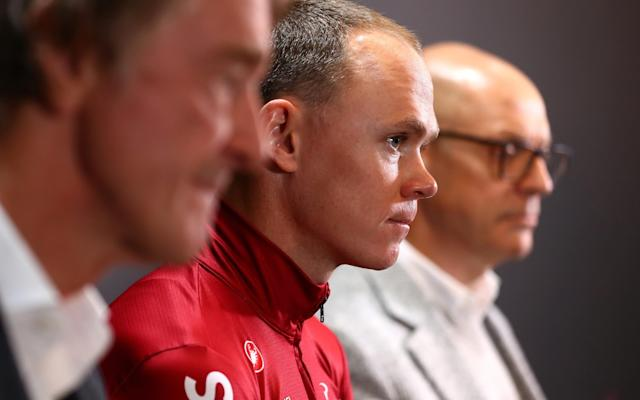 Sir Jim Ratcliffe, Chris Froome and Sir Dave Brailsford - Chris Froome at loggerheads with Ineos — what does this mean for four-time Tour de France winner? - GETTY IMAGES