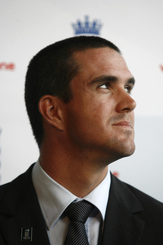 LONDON - AUGUST 4, 2008: Kevin Pietersen is unveiled as the new England Cricket Captain at a press conference at Lords Cricket Ground on August 4, 2008 in London, England. (Photo by Graham Hughes/Getty Images)