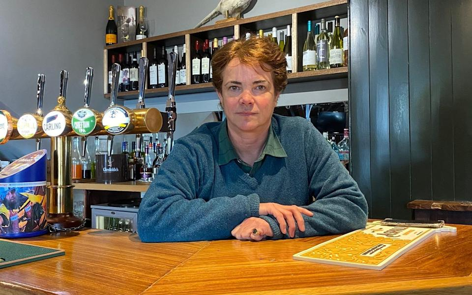 Like many in the industry, pub landlord Karina Bowlby feels hospitality has been unfairly singled out for tighter restrictions. - PA