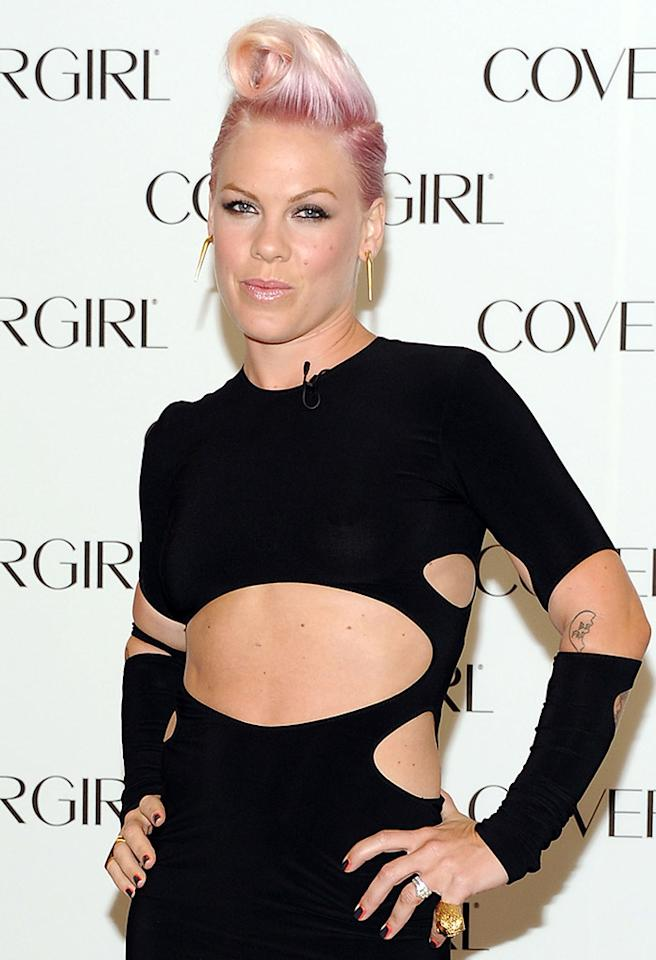 SANTA MONICA, CA - AUGUST 06:  Singer P!nk is announced as the newest face of COVERGIRL Cosmetics at Shutters On The Beach on August 6, 2012 in Santa Monica, California.  (Photo by Angela Weiss/Getty Images)