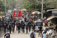 Anti-coup demonstrators in Myanmar continue to come out en masse even as the military crackdown intensifies