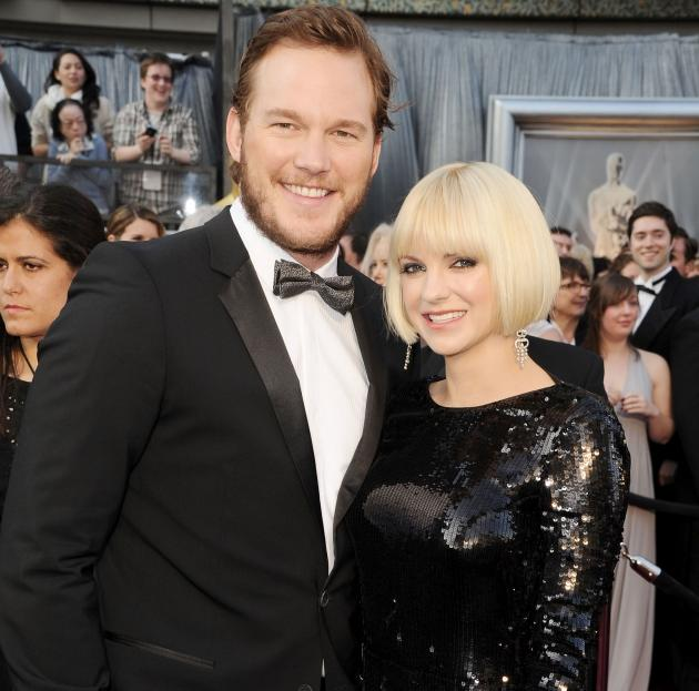 Chris Pratt and Anna Faris arrive at the 84th Annual Academy Awards held at the Hollywood & Highland Center in Hollywood, Calif. on February 26, 2012 -- Getty Premium