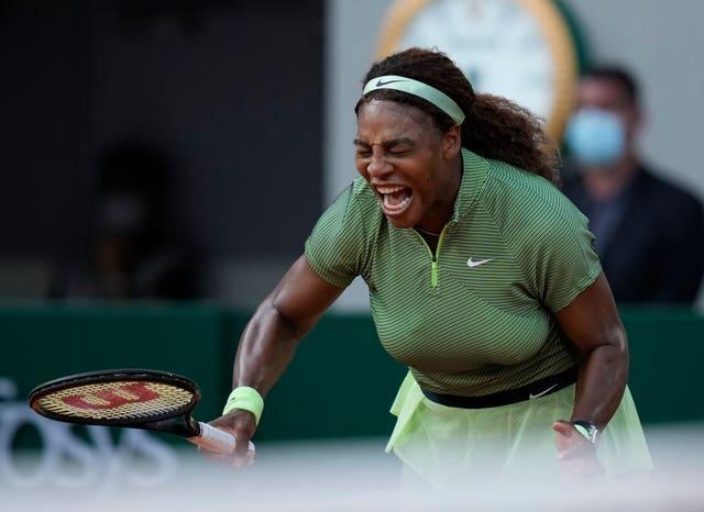 There were some frustrating moments for Serena Williams against Mihaela Buzarnescu