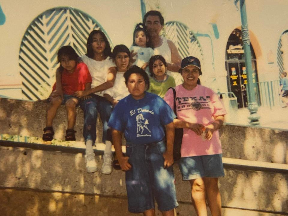 Uel Trejo and her family in 2002.