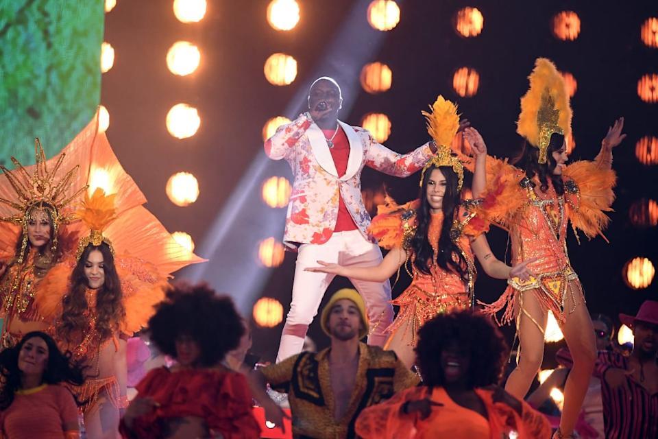 """<div class=""""inline-image__caption""""><p>Akon performs on stage during the MTV EMAs 2019 on November 03, 2019, in Seville, Spain. </p></div> <div class=""""inline-image__credit"""">Jeff Spicer/Getty</div>"""