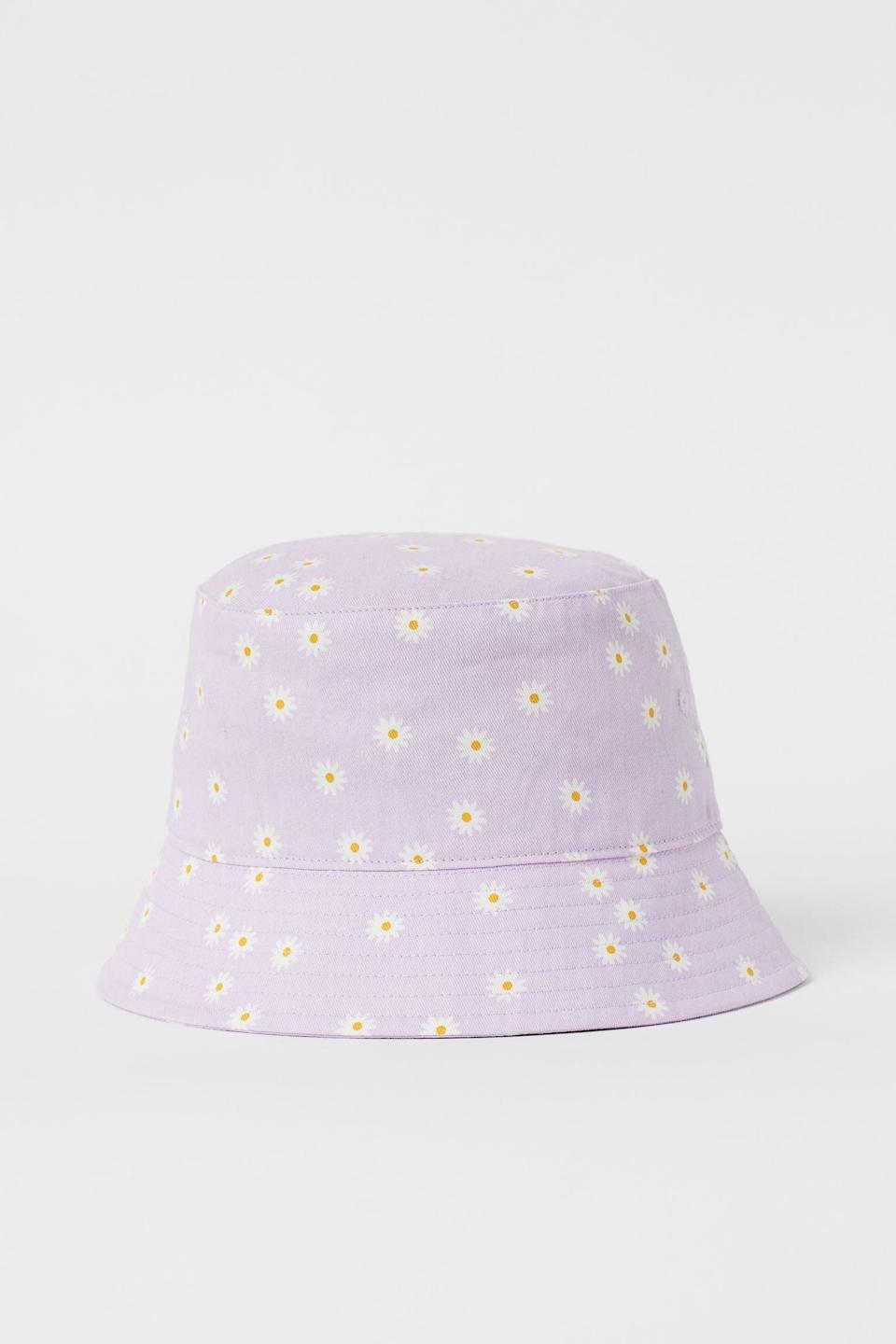 <p>This <span>H&amp;M Patterned Bucket Hat</span> ($10) comes in a charming print that will match other pastel pieces in your closet.</p>