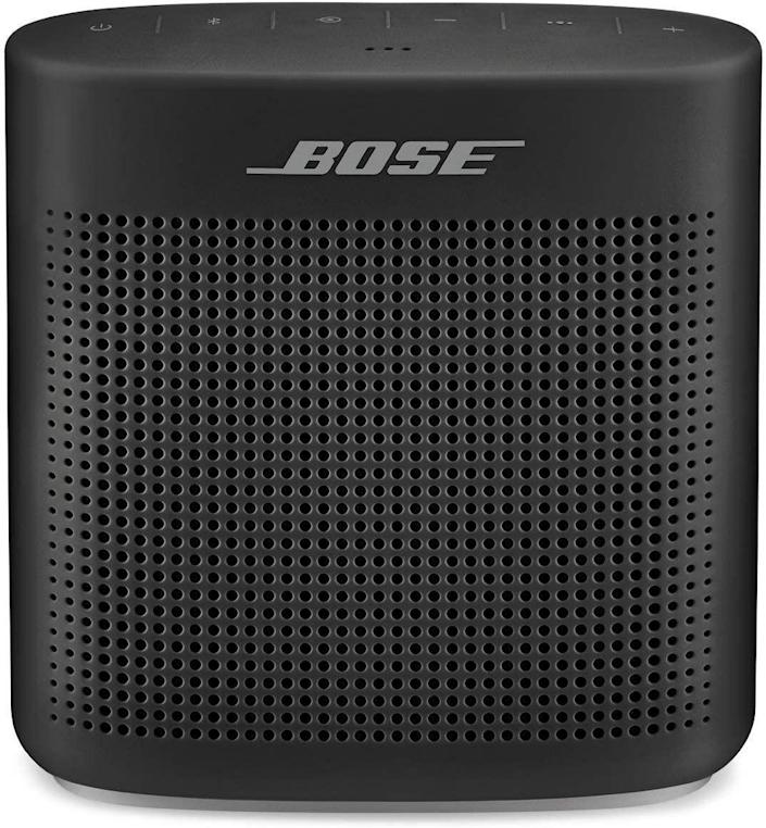 """This Bluetooth speaker from Bose has a 30-foot wireless range and eight hours of play time—plus, it's perfect for revisiting all the classic music Dad's introduced you to throughout the years. $129, Amazon. <a href=""""https://www.amazon.com/Bose-SoundLink-Color-Bluetooth-speaker/dp/B01HETFQKS/ref=asc_df_B01HETFQKS/"""" rel=""""nofollow noopener"""" target=""""_blank"""" data-ylk=""""slk:Get it now!"""" class=""""link rapid-noclick-resp"""">Get it now!</a>"""