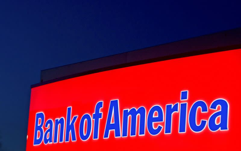 FILE PHOTO: A Bank of America logo is seen outside a bank branch in Charlotte