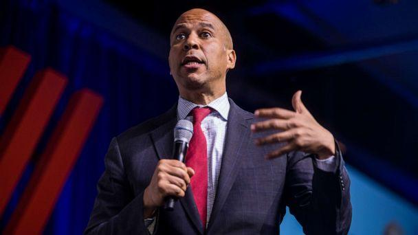PHOTO: Democratic Presidential Candidate Sen. Cory Booker speaks during a presidential forum hosted by the Congressional Hispanic Caucus Institute on September 10, 2019 in Washington, DC. (Zach Gibson/Getty Images)